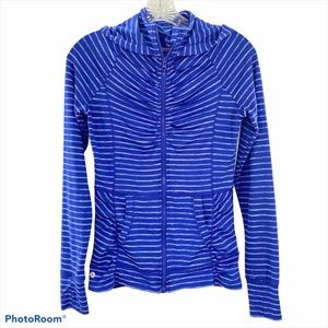 90 DEGREE   Striped Zip up Athletic Jacket